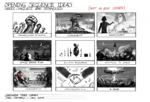 Opening Sequence Storyboard